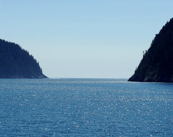 The Chiswell Islands - ocean photograph - alaska seascape water travel blue