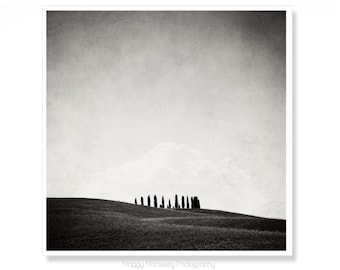 Black and White Art Print, Tuscany Photography, Gift for Art Lover,  Italy Photography