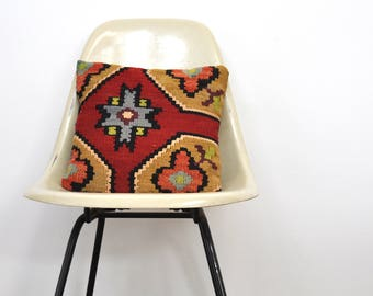 Killum Rug Turkish Throw Pillow - Moroccan Boho Indie