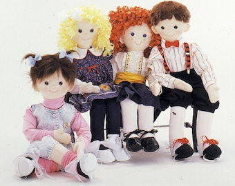 Wallflowers Dance-With-Me doll and clothing pattern from Carolee Creations SewSweet Dolls