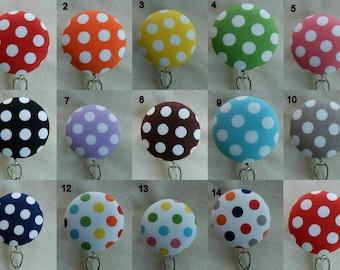 Dots Badge reel~ Retractable Badge Holder Reel, ID Name Holder,Security tag holder
