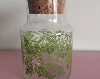 Medium Herbs Glass Jar with Cork Lid