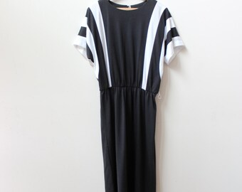 Black and White Mod 80s Dress