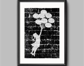 Banksy Ballon Girl Poster Print | Graffiti  prints