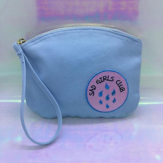 Baby Blue Sad Girls Club Make Up Bag
