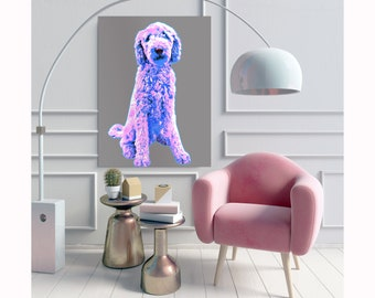 Dog owner gift Custom pet pop art Pet portrait, Dog memorial Dog illustration, Custom dog painting, Dog gift, Custom dog portrait