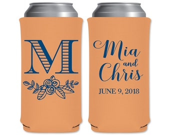 8.3 oz Slim Beer Can Coolers Beverage Insulator Personalized Wedding Favors | Classic (6A) | Energy Drinks/Michelob Ultra | READ DESCRIPTION