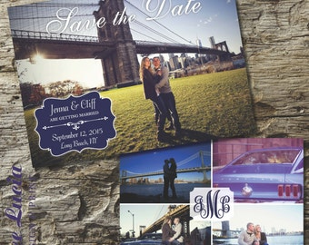 Photo Save the Date Cards. Printed 5x7 card with envelopes.