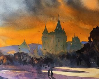Original Watercolor Painting  | Landscape painting |  Watercolor painting |Original painting | Original art | Wall decor | art | Nature