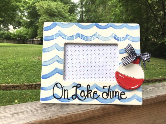 Lake theme picture frame, River theme picture frame, Lake frame, Fishing frame, Fisherman's gift