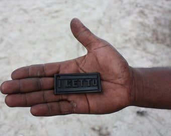 i get to africa - Hand Carved Wood Keychain