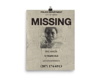 Missing Mike mini poster