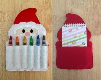 Santa Crayon Holder AND Notebook Holder