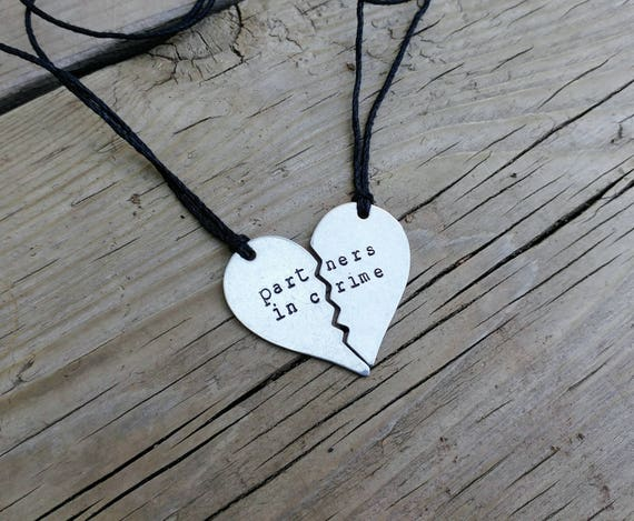Partners in crime //  friendship necklace set