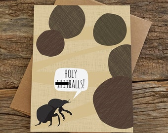 funny congrats card / funny cards / dung beetle / mature