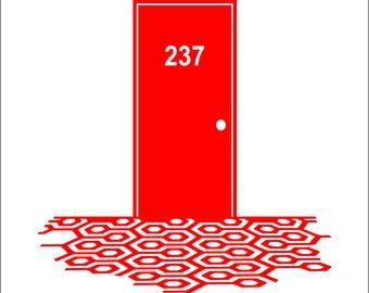 "The Shining Inspired Room 237 Vinyl Auto Decal Window Sticker 4"" REDRUM"