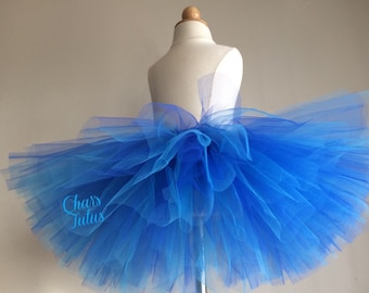 Ready to Ship Royal Blue and Turquoise Tutu. Parties, Birthdays, Photos, Infants-Girls.