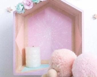 Cabin wall shelf size L customize