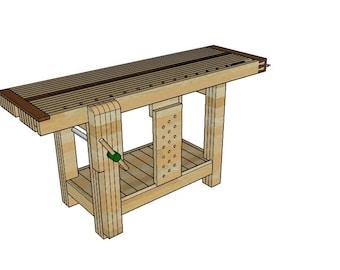 Split-Top Roubo Workbench Plans (Right-Handed)