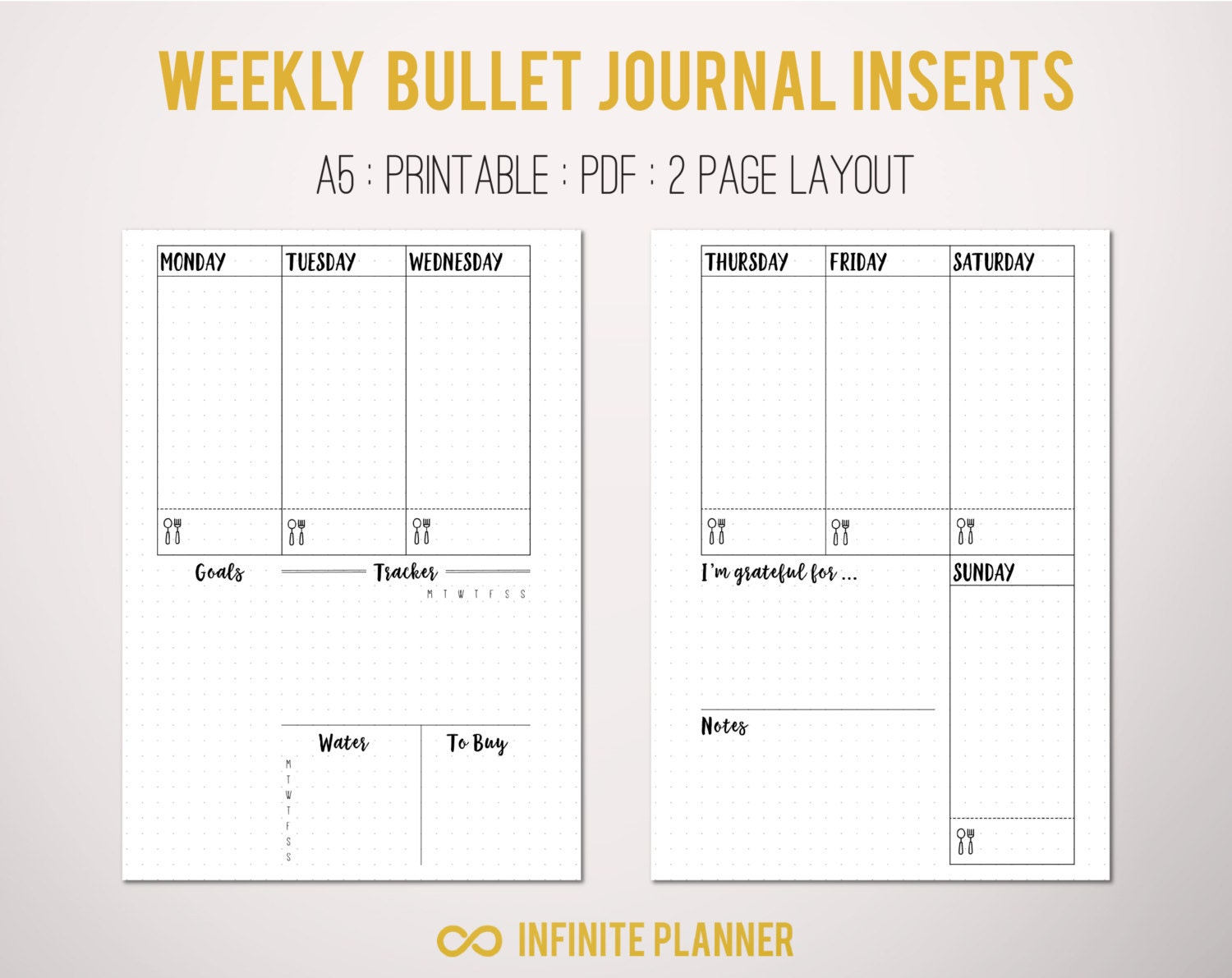 Simplicity image intended for weekly journal template