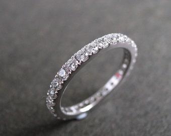 Eternity Ring, Eternity Band, Eternity Wedding Band, Diamond Band, Diamond Wedding Band, Diamond Ring, Diamond Band in 14K White Gold, Rings