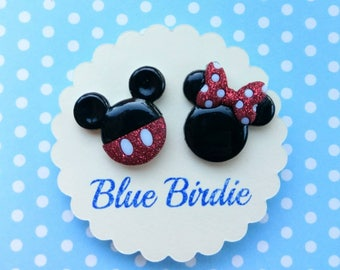 Minnie and Mickey mouse earrings Disney jewelry Disney earrings Minnie mouse jewelry Mickey Mouse earrings Mickey Mouse jewelry gifts