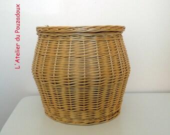Safe white basket with lid - french craftsmanship.