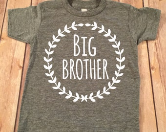 Big Brother Shirt Little Brother Shirt Personalized Shirt Sibling Shirts Brother Shirt Pregnancy Announcement Shirt Baby Announcement Shirt