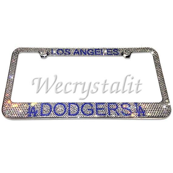 LA Dodgers Crystal Sparkle Auto Bling Rhinestone License Plate Frame ...
