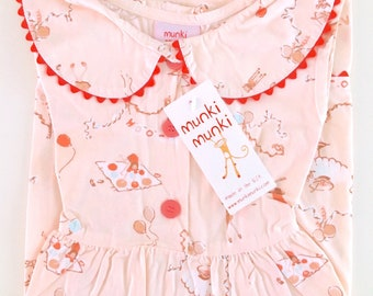 Munki Munki Birthday Party Dress - Girl's Size 5 - Old Stock New With Tags - No Longer in Production Rare!