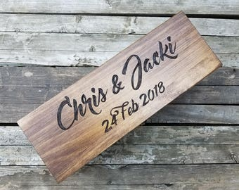 Engraved Wooden Ceremony Box for Wine, Champagne, whisky or other alcohol and spirits