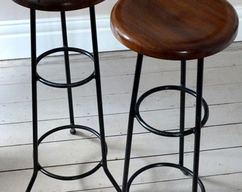 Pair of Vintage French Cocktail Stools  c. 1965
