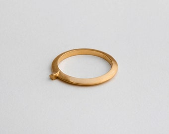 Unique Stacking Ring, Avant Garde Ring, Minimal Ring, Thin Ring 14k 18k Gold Stack Ring, Unicorn Ring, Contemporary Ring Unique Wedding Ring