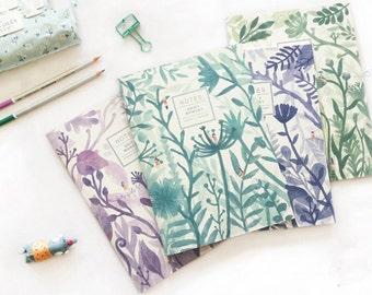 Back To School Special!Minimalist Notebook,Journal Planner, Journal Insert,Planner Insert,Plain,Korean Stationery,DIY Jungle Leaves