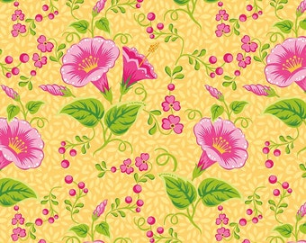 Primavera Main in Tangerine Cotton Fabric by Patty Young for Riley Blake