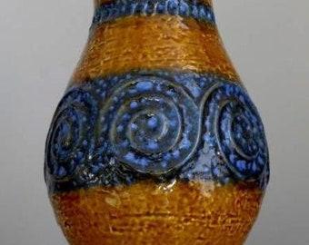 LARGE 11''Vintage 60-70s JASBA KERAMIK N 322 11 28 Vase West German Fat Lava Era