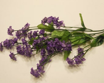 silk baby's breath flower stem, purple (DD)