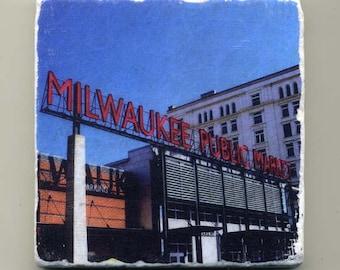 Milwaukee Public Market-  Original Coaster