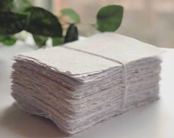4x6 Natural White Cotton Handmade Paper