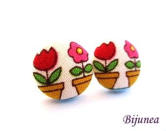 Flowers earrings - Flower stud earrings - Flower studs - Flower post earrings sf1261