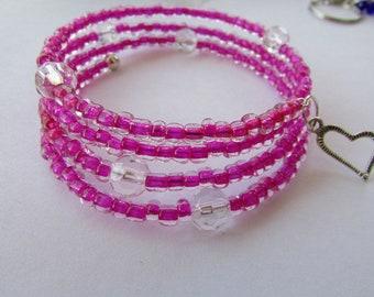 Deep Pink Wrap Bracelet