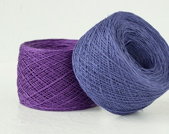 4ply linen in Ultraviolet color of 2018 year. Limited quantity color linen crochet thread