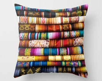 Colorful Fabric Pillow Cover