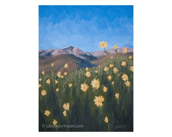 Original Mountain Art Summer, Rocky Mountains Summer Art, Vail Colorado Art, Colorado Mountain Art, Original Colorado Mountain Painting,