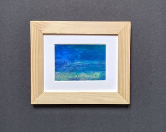 Original ACEO abstract seascape beach nature Yorkshire artist