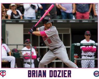 Brian Dozier Minnesota Twins Canvas Wrap