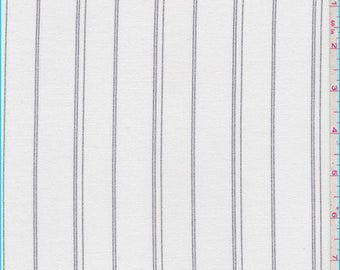Ivory Stripe Suiting, Fabric By The Yard