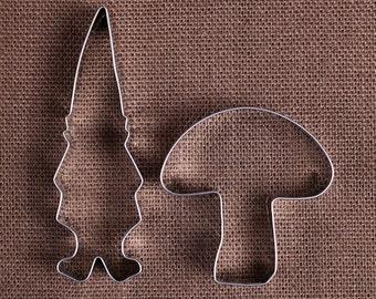 Gnome Cookie Cutter Set, Gnome Biscuit Cutter, emporte-pièce Woodland, champignon emporte-pièces, Noël emporte-pièces