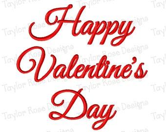 Happy Valentine's Day 2 Machine Embroidery Design 3x3 4x4 5x7 INSTANT DOWNLOAD