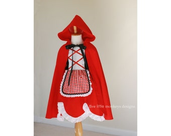 Little Red Riding Hood Dress - Little Red Riding Hood Costume - Red Riding Hood Dress - Red Riding Hood Costume - Red Riding Hood Cape